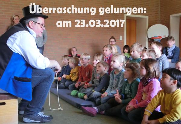 Zauberer ZaRaBo im Kindergarten St. Franziskus