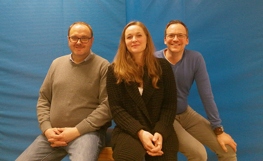 Der Vorstand im März 2019, von links: Jürgen Cordes, Patricia Behluli, Jan Willand (leider verhindert war Timo Voss)